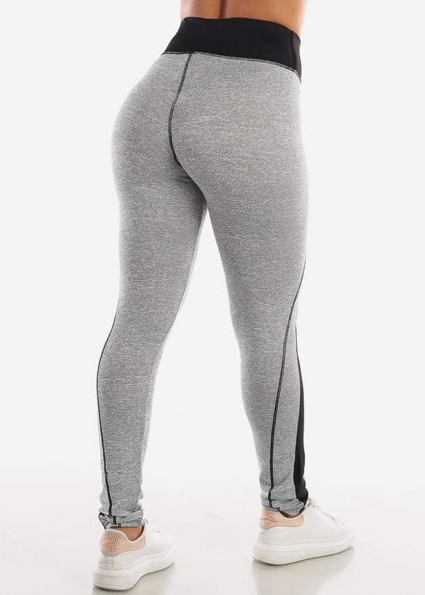 Activewear High Rise Light Grey Leggings