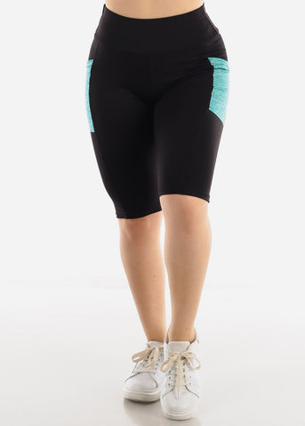 Black & Teal Activewear Shorts
