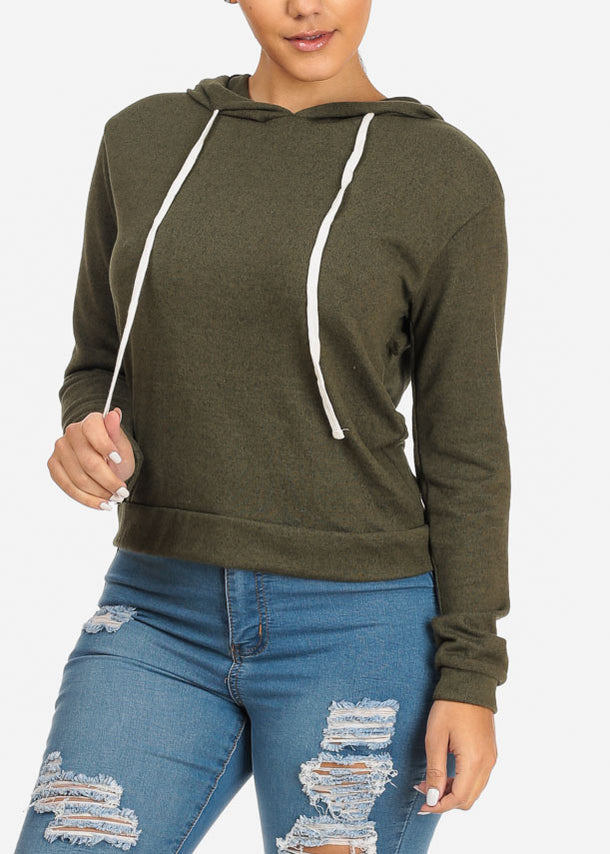 Cheap Hooded Sweatshirt (Olive)