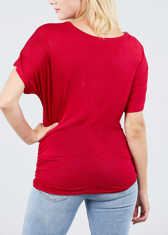 Dolman Sleeve Red Top