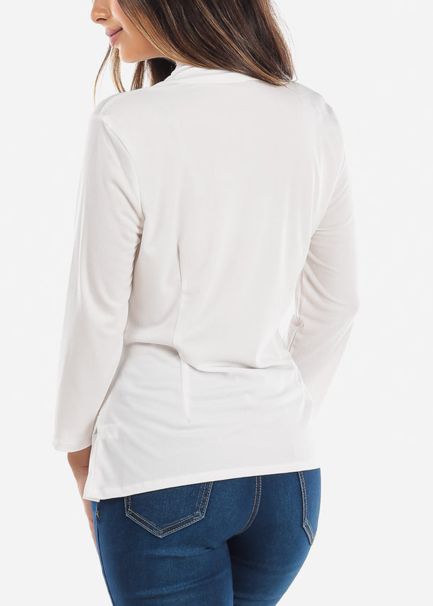 Wrap Front White Blouse