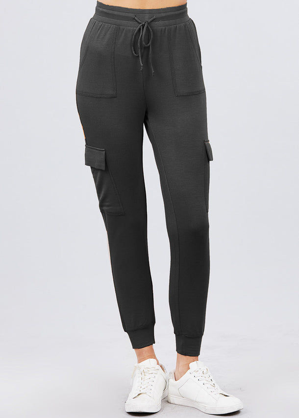 Black  French Terry Jogger Pants