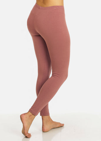 Activewear Mauve Stretchy Leggings