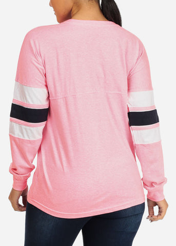 Image of Pink Color Pullover Sweatshirt