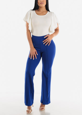 Royal Blue Wide Legged Pants