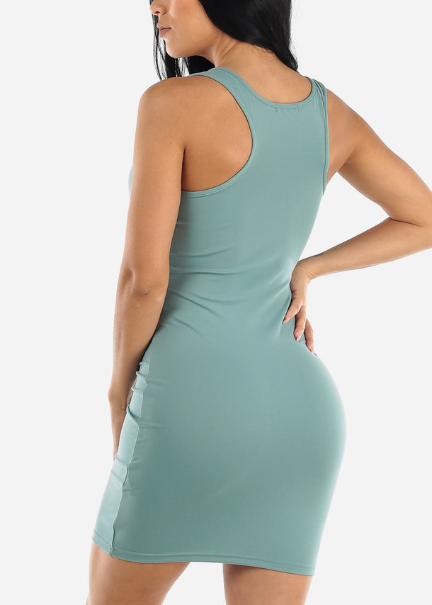 Sage Bodycon Racerback Dress