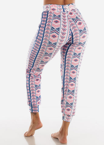 Image of Multicolor Printed Plush Pajama Pants