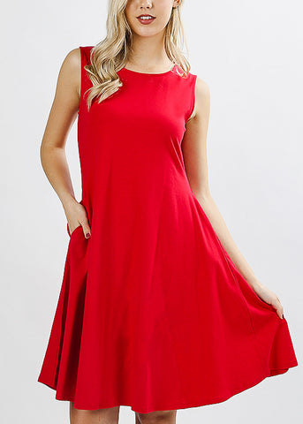 Sleeveless Ruby Classic A-Line Dress