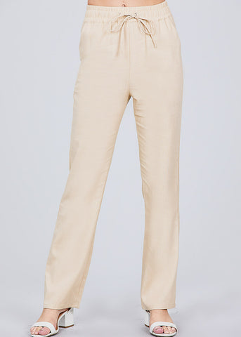 Image of Khaki Linen Pants