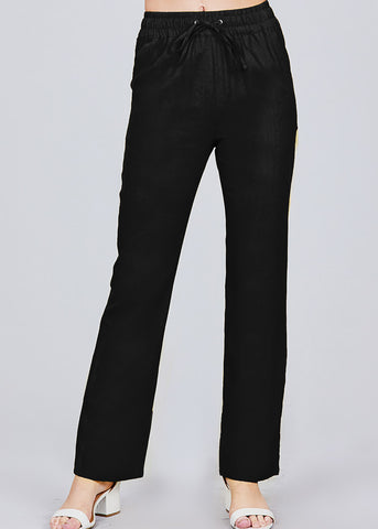 Image of Black Linen Pants