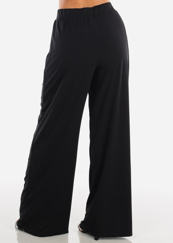 Image of Stylish Black Palazzo Pants