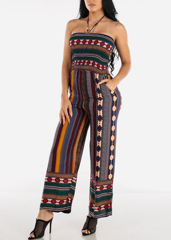 Strapless Stripe Multicolor Jumpsuit