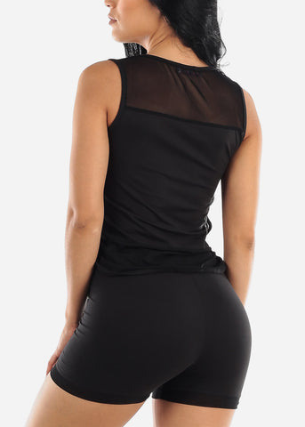 Black Bodycon Racerback Dress