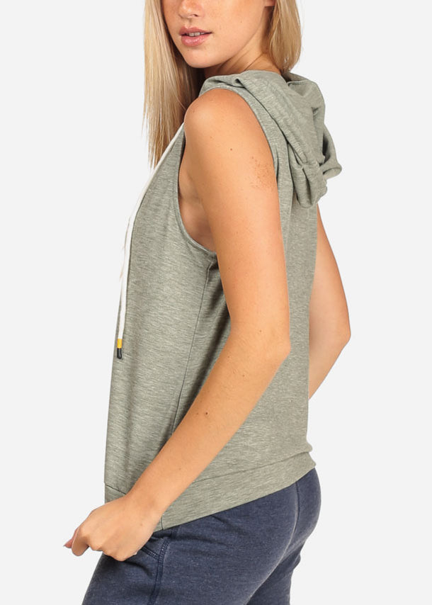 Hooded Grey Top