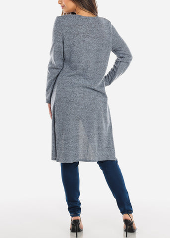 Image of Blue Maxi Cardigan