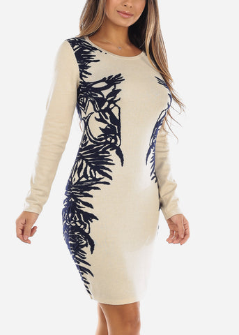 Image of Cream Sweater Dress