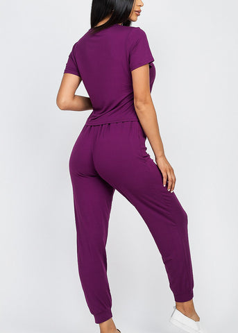 Image of Purple Top & Joggers (2 PCE SET)