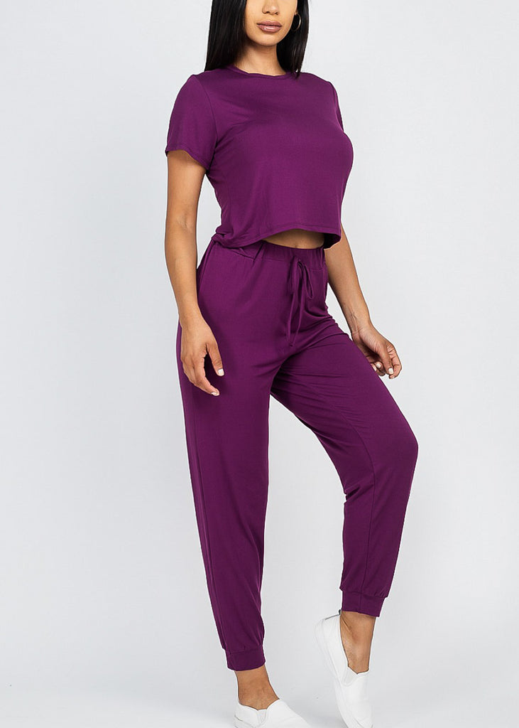 Purple Top & Joggers (2 PCE SET)
