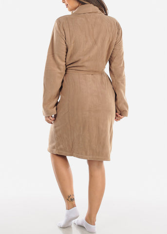Light Brown Fleece Robe