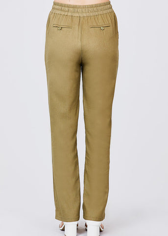 Image of Olive Linen Pants
