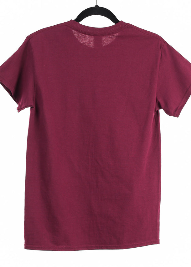 Burgundy Graphic Top