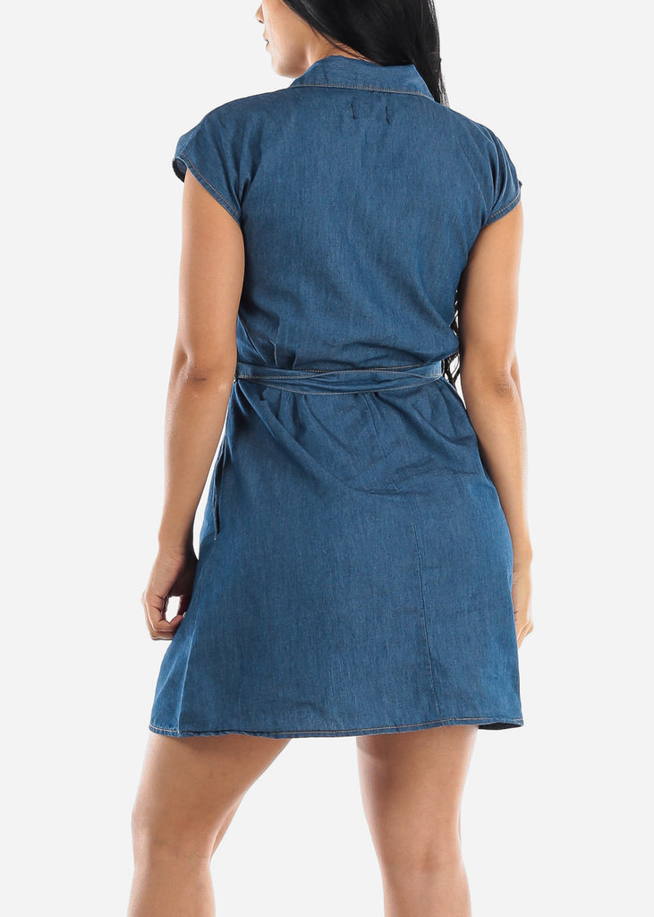Dark Wash Casual Denim Dress
