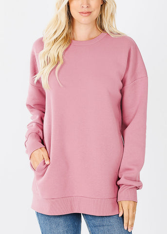 Rose Sweatshirt W Pockets