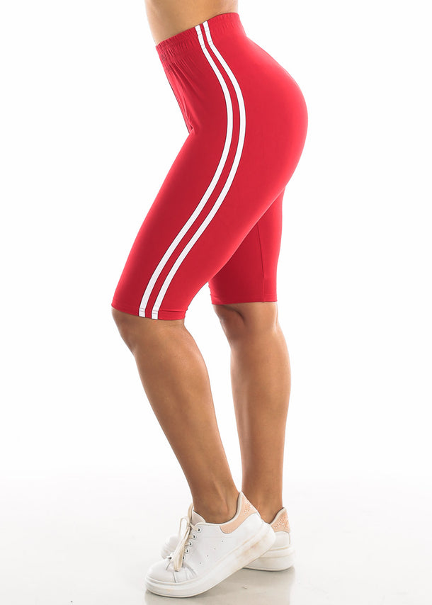 Activewear Red Bermuda Shorts