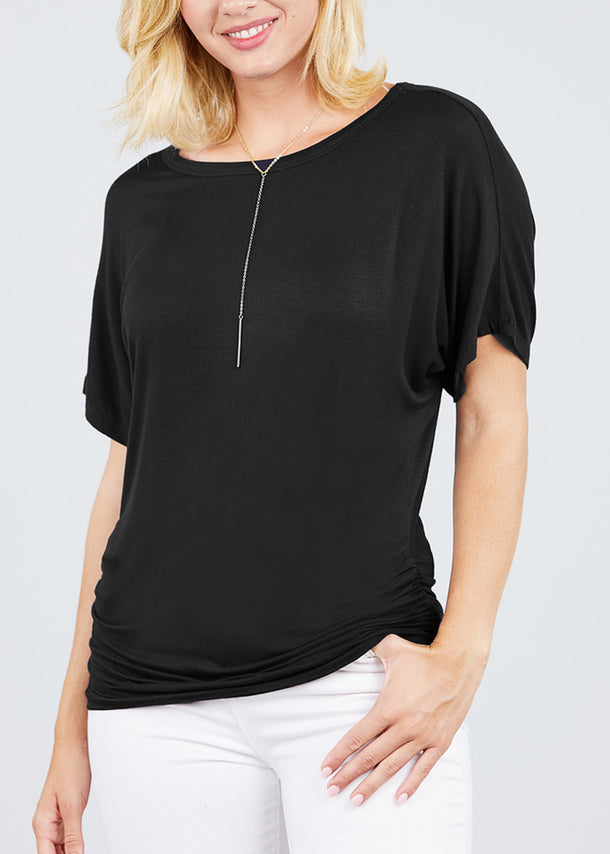Dolman Sleeve Black Top