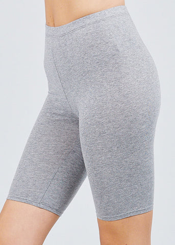 Image of Basic Grey Biker Shorts