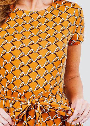 Image of Orange Print Top