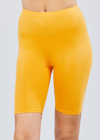 Image of Basic Mustard Biker Shorts