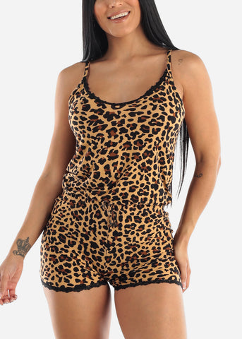 Animal Print Sleep Romper