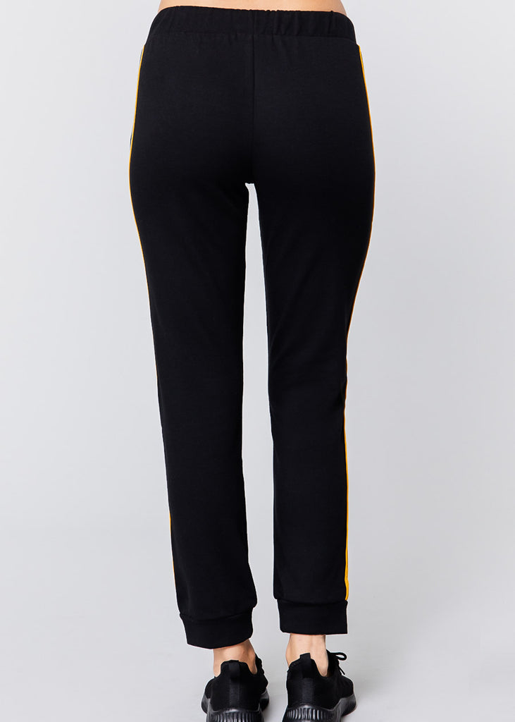 Pull On Black Drawstring Jogger Pants