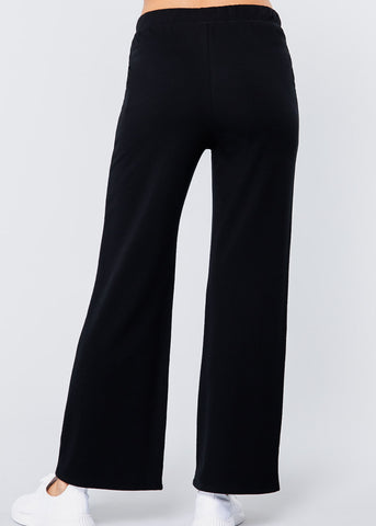 Cozy Wide Leg Drawstring Pants