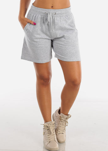 Hiking Workout Light Grey Shorts