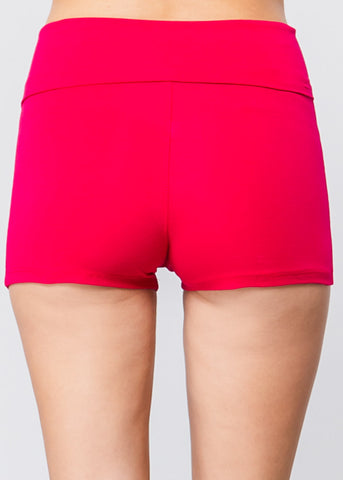 High Waisted Pink Yoga Short