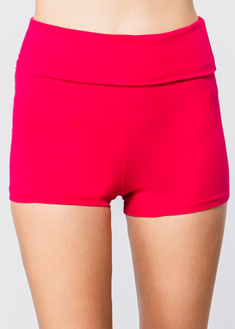 Image of High Waisted Pink Yoga Short