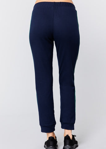 Pull On Navy Drawstring Jogger Pants