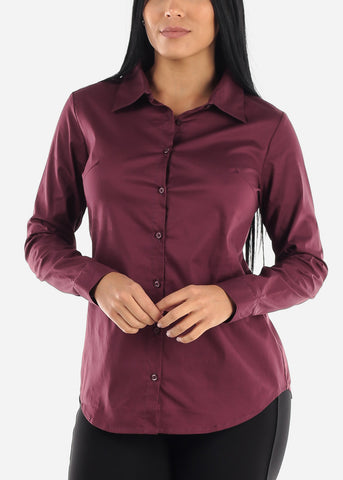 Image of Work Wear Long Sleeve Button Down Shirt