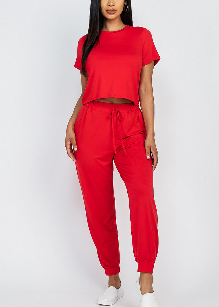 Red Top & Joggers (2 PCE SET)