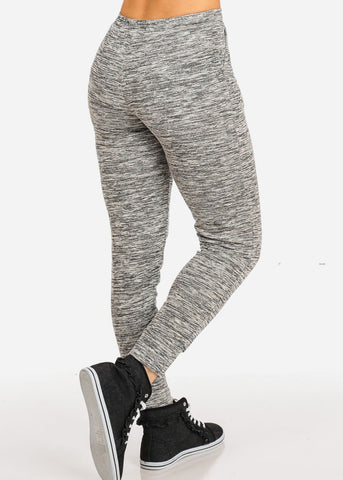 Drawstring 2-Pockets Graphic Jogger Pants