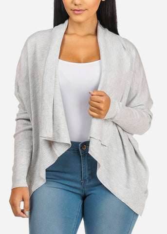 Image of Cozy Light Grey Cardigan