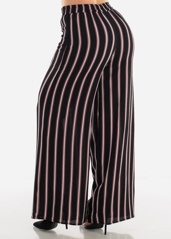 Image of Black Stripe Palazzo Pants