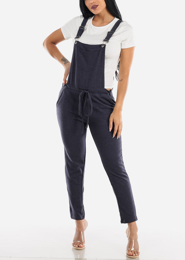 Casual Sleeveless Indigo Overall