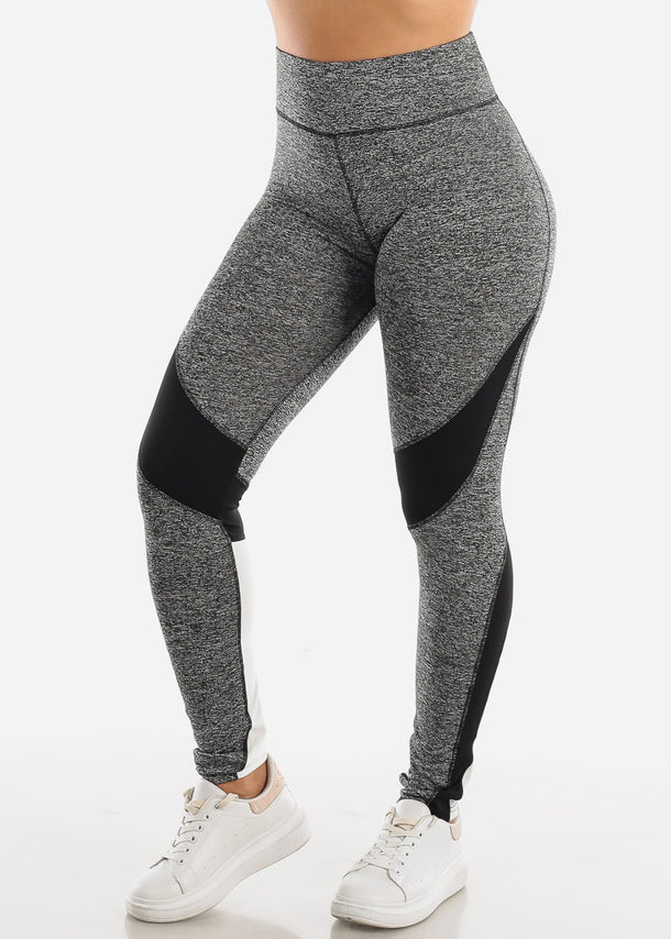 Activewear Grey Colorblock Leggings