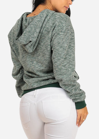 Image of Wifey Olive Sweater W Hood