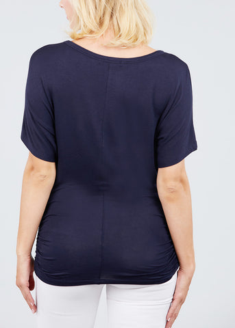Dolman Sleeve Navy Top
