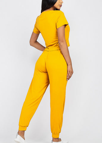 Image of Mustard Top & Joggers (2 PCE SET)