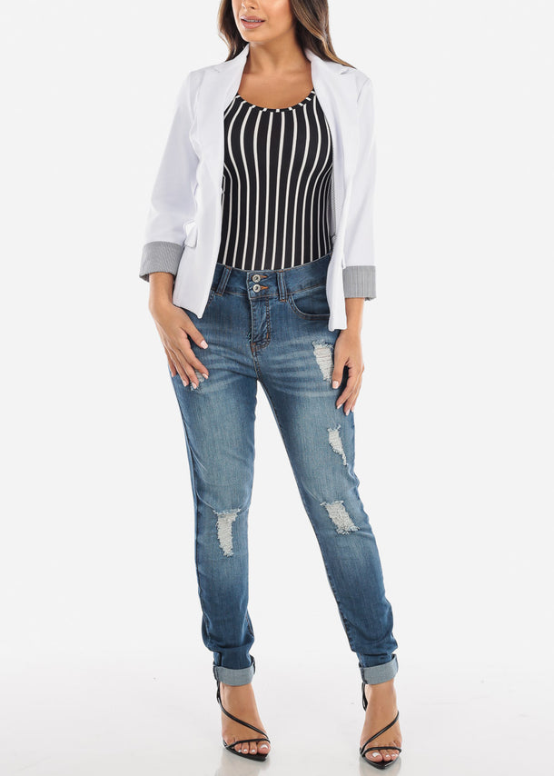 Black & White Striped Bodysuit under $10
